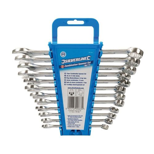 Silverline SP1236 Combination Spanner Set 12 Piece Metric 8mm - 19mm